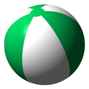 Beach ball (white green)