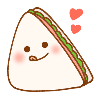 サンドイッチ(ぺろりハート)