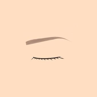 여성의 감은 눈