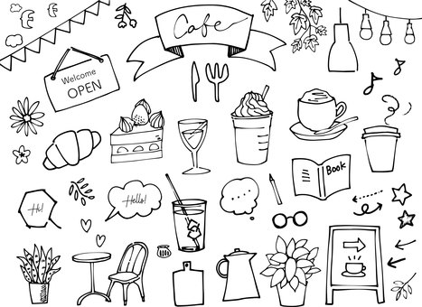 手寫咖啡廳集