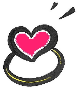 Heart Ring Dark Pink Ring