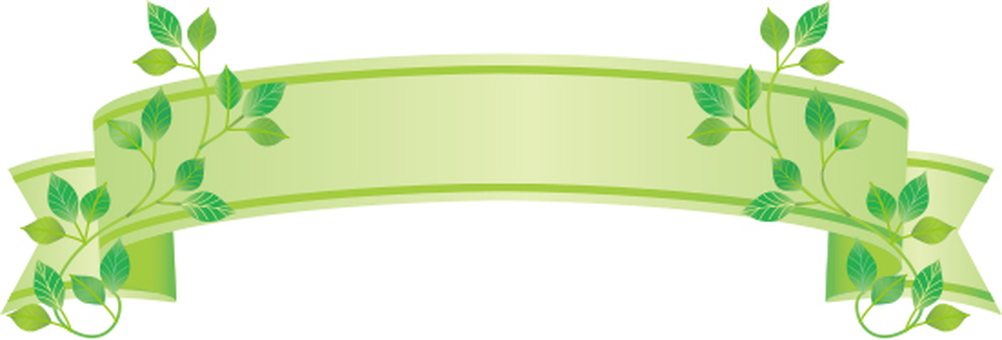Leaf decoration ribbon frame