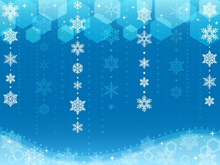 雪の結晶 背景10