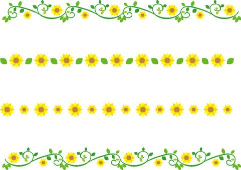 Leaf decoration line Sunflower