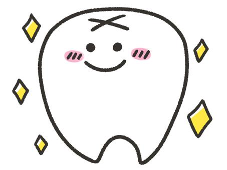 Glittering cute teeth
