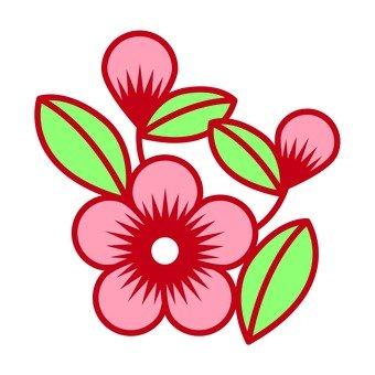 중국 복숭아 꽃