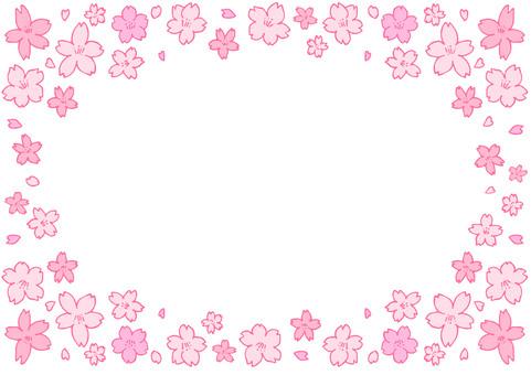 [Loose] Handwritten Sakura frame [Frame]