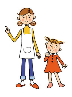 엄마와 소녀