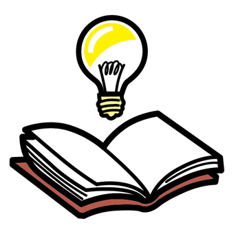 Book inspiration light bulb study discovery