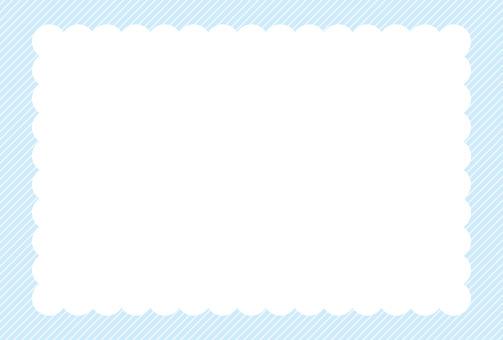 Simple frame _ light blue hatching