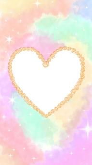 Rose Heart Frame (Orange)