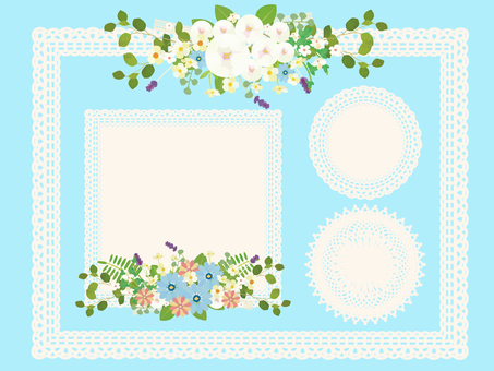 Set of lace frames