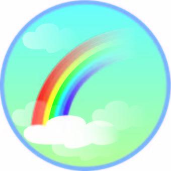 Weather circle rainbow