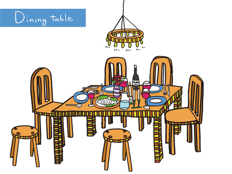Dining table color