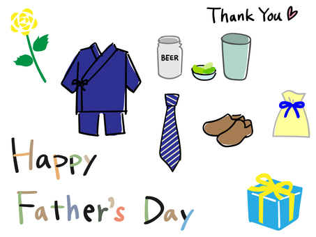 Father's Day Icon & Logo Set