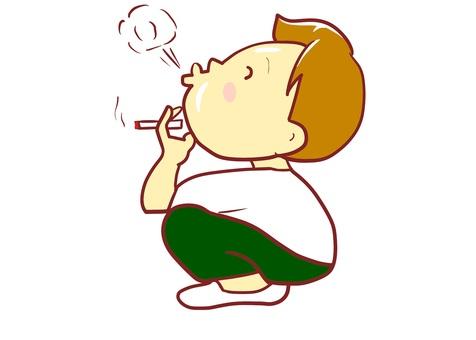 chacha smoking cigarette smoking