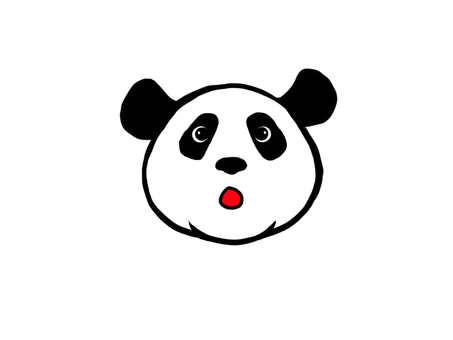 Panda surprised