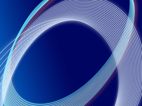 Blue background ellipse wave