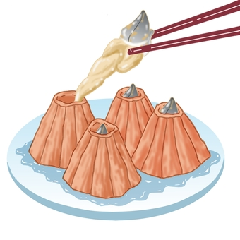 Mine Food Cooking Dishes Steamed Sushi 2 with a picture