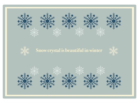 Frame snow crystal ② Classic