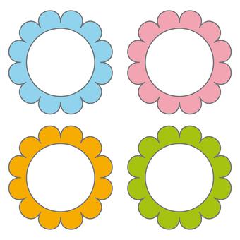명찰 꽃 무늬 세트 1