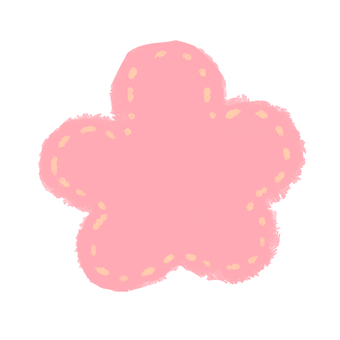 Flower red mesh