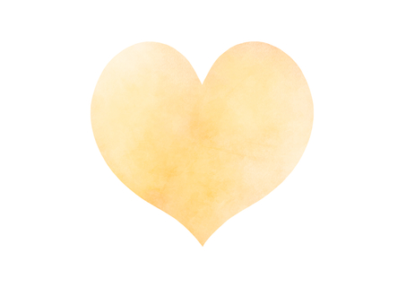 Watercolor-like heart (yellow)