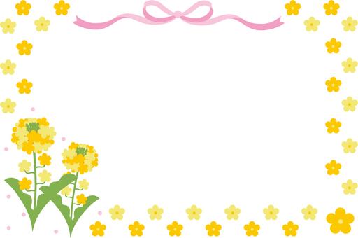 Rape blossom frame