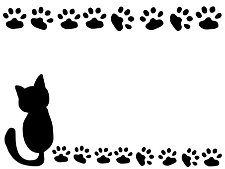 Cat footprint frame