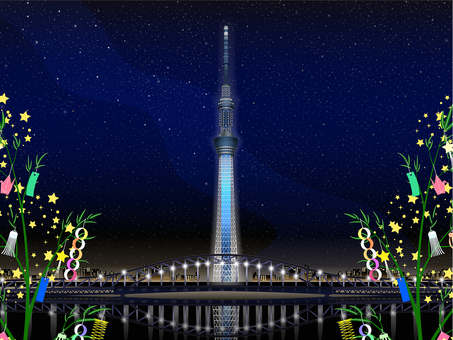 ai Sky Tree Milky Way Tanabata · Background frame