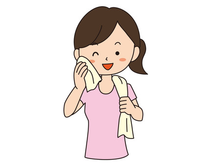 Woman with a towel _ Smile
