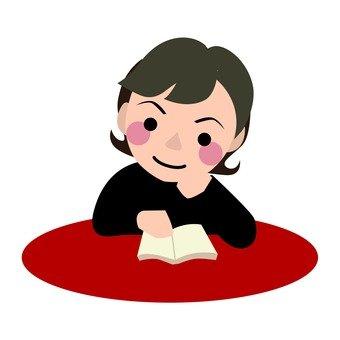 독서를하는 여성