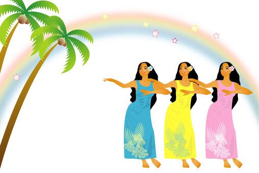フラダンス三人娘1