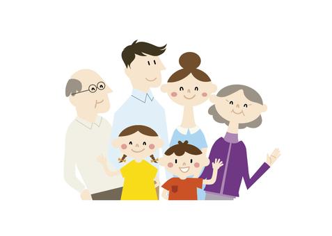 3世代家族 笑顔