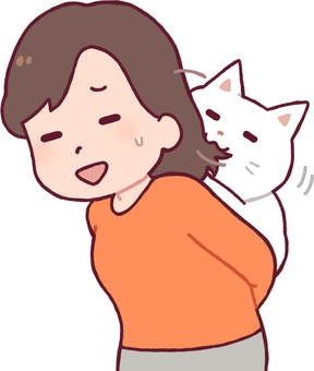 Cat playing with hair