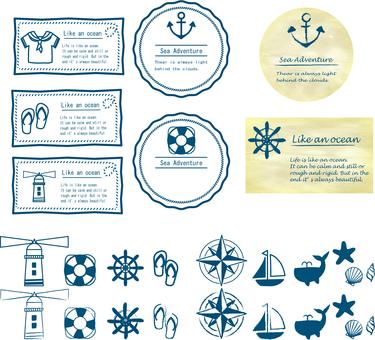 海のアイコン_カードデザイン