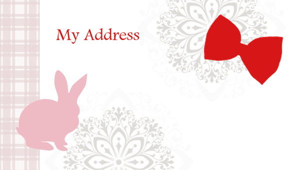 Label Rabbit red background illustration