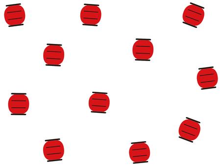 붉은 초롱 일러스트
