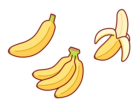 Banana illustration set