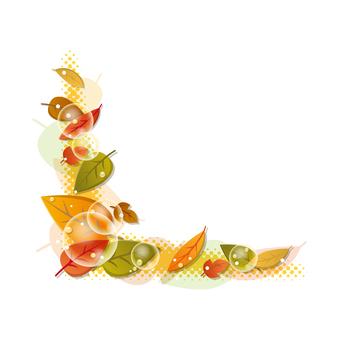 잎의 코너 장식