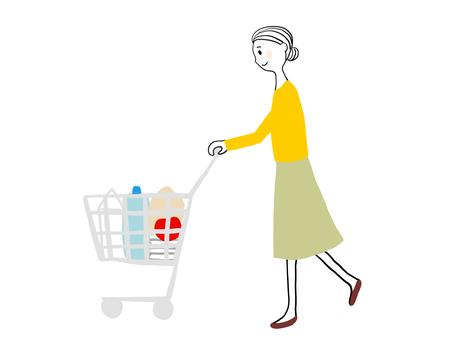 쇼핑하는 여성