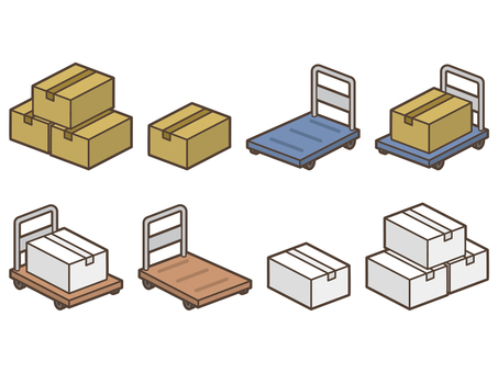 Luggage Carry Cart Carton Box
