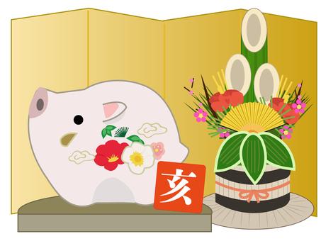 イノシシの正月飾り