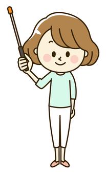 Female 2-10 pointing rod