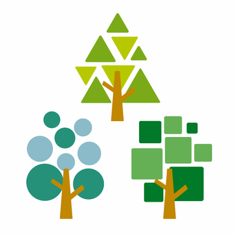 Tree geometric pattern
