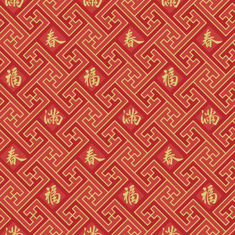 中国文様-卍繋ぎ1・文字入り
