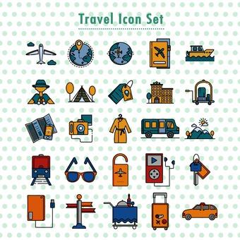 여행 아이콘 세트