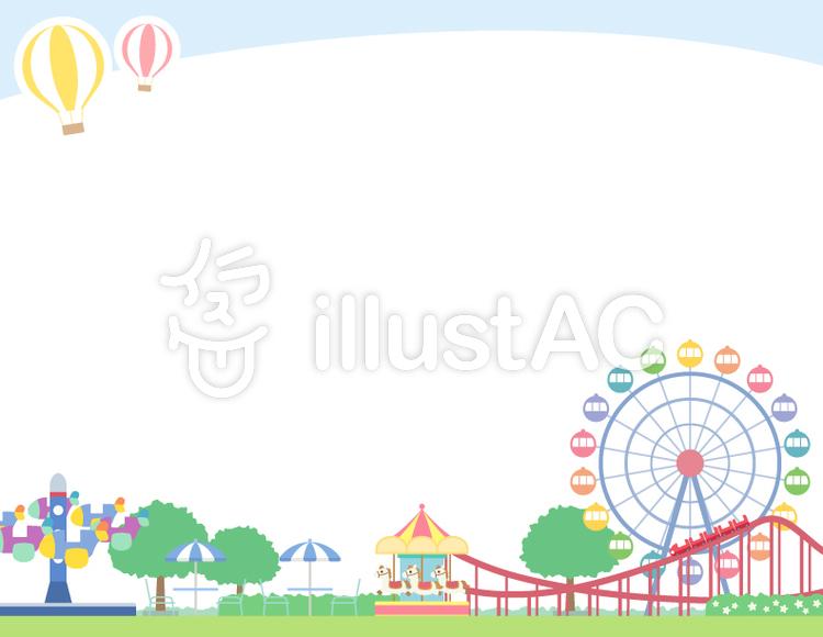 遊園地のフレームイラスト No 1115253無料イラストならイラストac