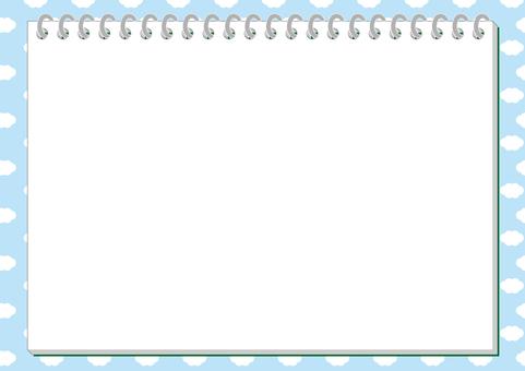 Sketchbook frame (blue sky ver.)