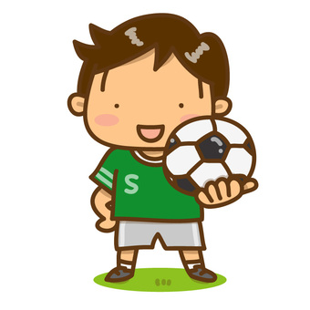 A boy with a soccer ball